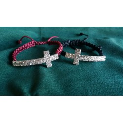 Pulsera ajustable Cruz Brillantes